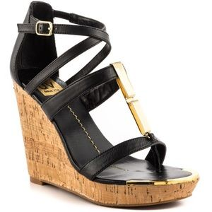 Dolce vita black Tabby cork wedges size 7.5